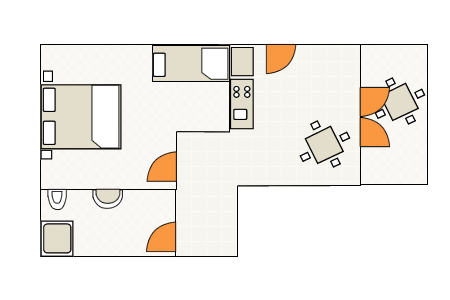 Ground-plan of the apartment - 2 - 4